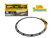 Little Treasures Watch the Engineer Sleek Looking Train Rumble Down the Track While Your Kid is Having Fun Acting Like the Engineer-Conductor Steam Locomotive Set