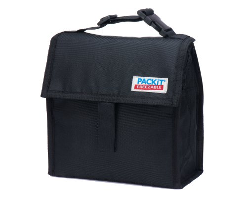 PackIt Freezable Mini Lunch Bag, Black - 1