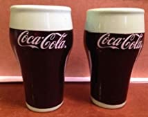 Coca-cola Bell Glass Salt & Pepper Shakers