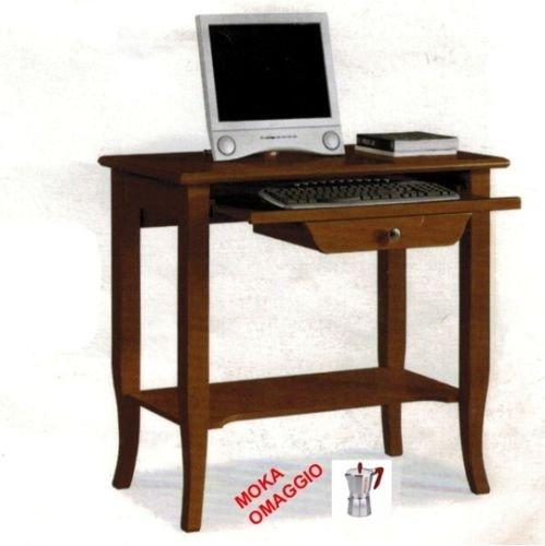 CLASSICO scrivania scrittoio 1 cassetto piano estraibile per studio e sala 533 85x49x79