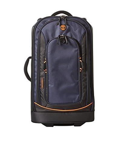 Timberland Luggage Claremont 26 Rolling Suitcase, Navy/Black/Burnt Orange