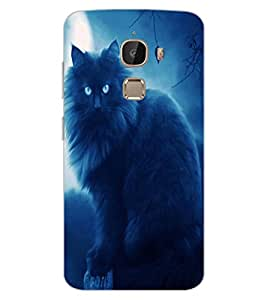ColourCraft Scary Cat Design Back Case Cover for LeEco Le 2 Pro