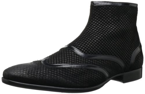 Just Cavalli Men's Shiny Border Chelsea Boot,Black,40 EU/7 M US