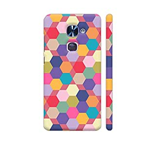 Colorpur Multicolor Hexagonal Tiles Designer Mobile Phone Case Back Cover For LeEco Le 2 / Le 2 Pro | Artist: Designer Chennai