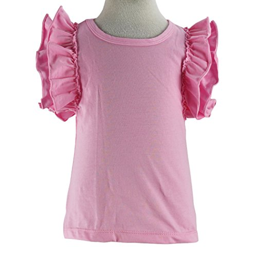 Girls' Double Ruffle Solid Tank Top Pink