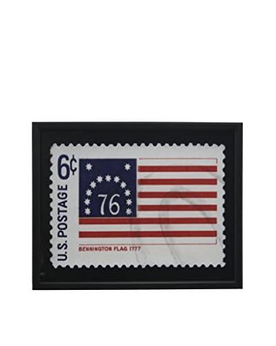 Bennington Flag Stamp Black Shadowbox Art