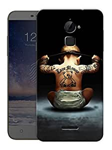 """Ninja Baby Printed Designer Mobile Back Cover For """"Coolpad Note 3 Lite"""" By Humor Gang (3D, Matte Finish, Premium Quality, Protective Snap On Slim Hard Phone Case, Multi Color)"""