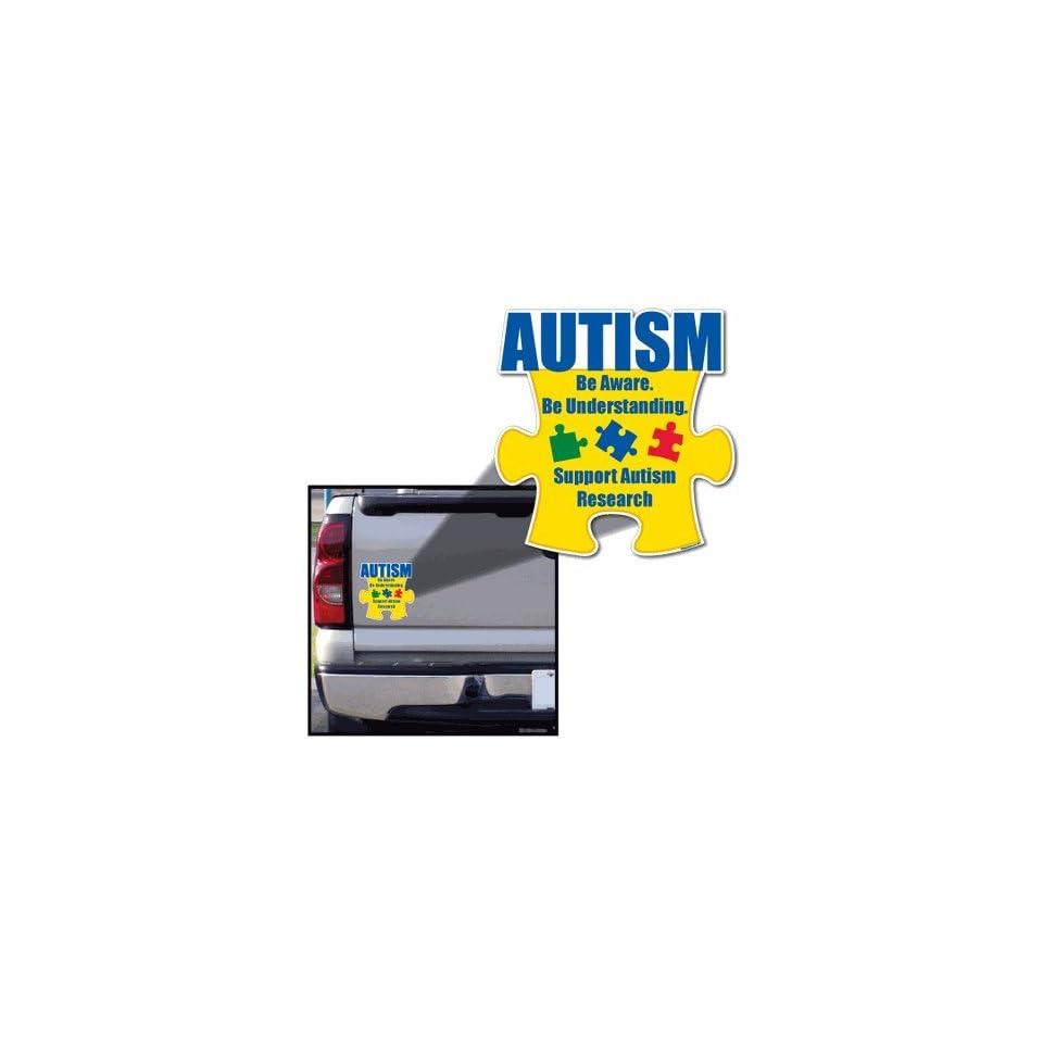 Autism Awareness Puzzle Piece Be Aware Car Magnet 8.25 x 8.25