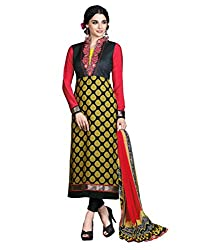 Yehii Women's Crepe Black Floral dress material Unstitched Salwar Kameez Dupatta for women party wear low price Below Sale Offer