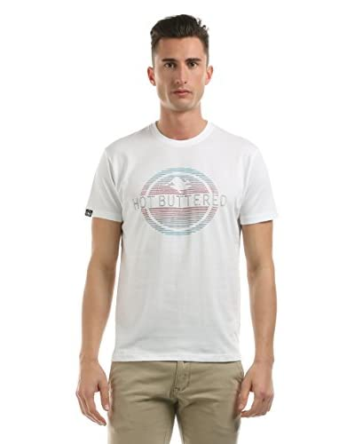 Hot Buttered Camiseta Manga Corta Horizon Blanco