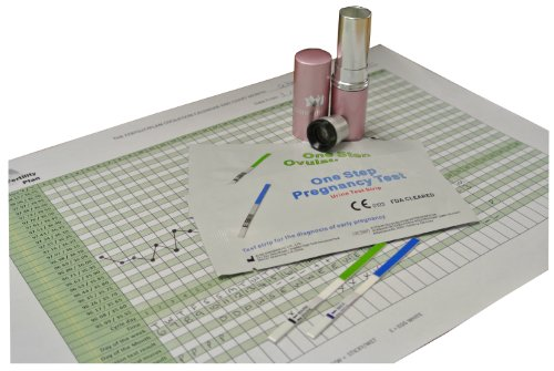 Saliva Fertility Microscope Tester & 10 x 20mIU/mL Ovulation and 10 x 10mIU/mL Pregnancy Tests