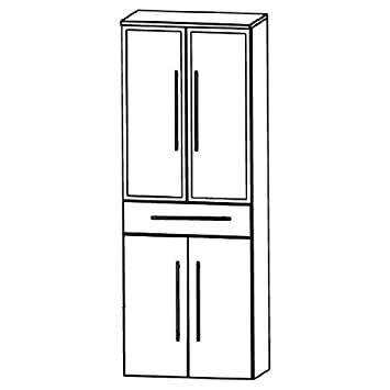 Puris Speed (HNA056B Bathroom High Cabinet 60 CM