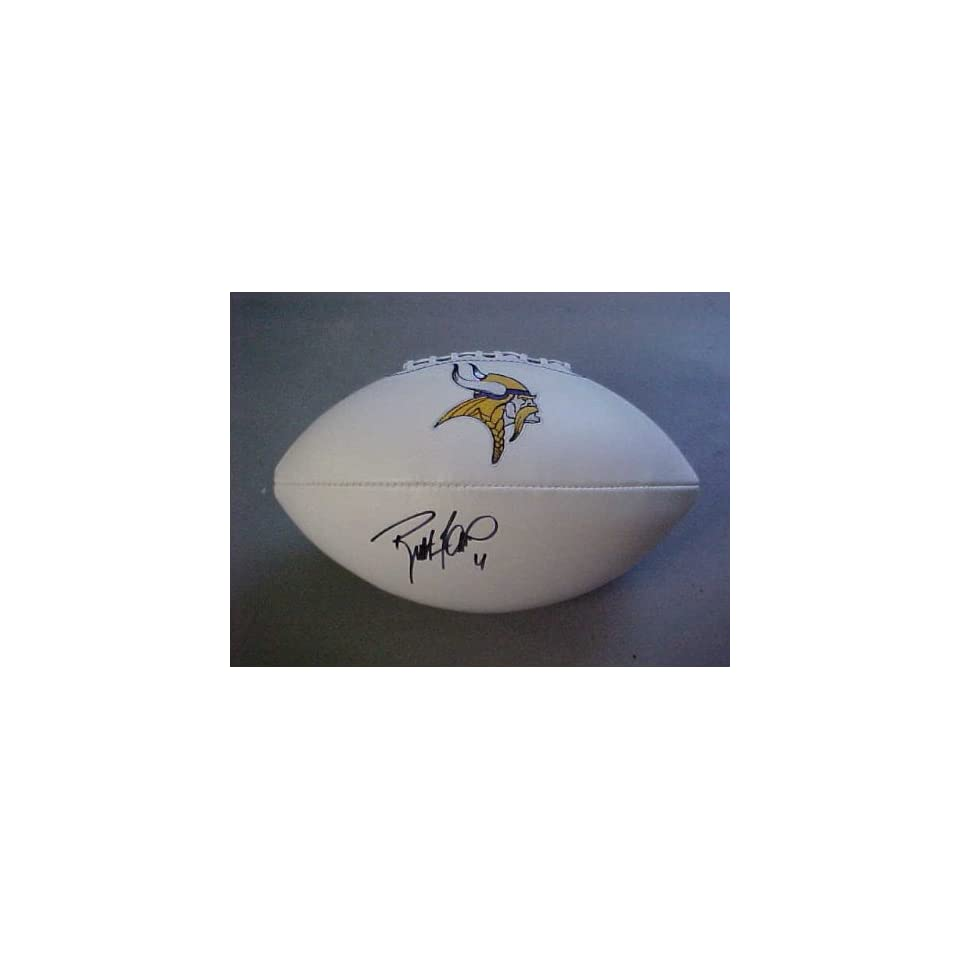 Brett Favre Hand Signed Autographed Minnesota Vikings Full Size NFL Football