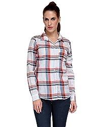 Kiosha White Red Check Cotton shirt