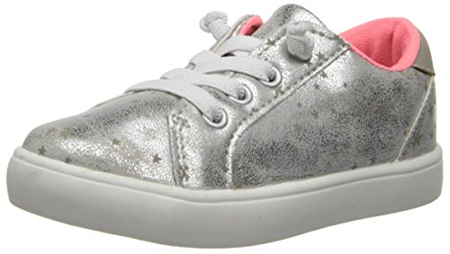 Carter'S Olivia Sneaker (Toddler/Little Kid),Grey/Silver,5 M Us Toddler front-39759
