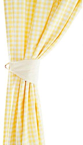JoJo Maman Bebe Gingham Curtains, Yellow, Medium