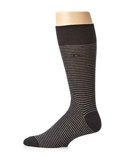 Calvin Klein Men's Fine Stripe Crew Sock