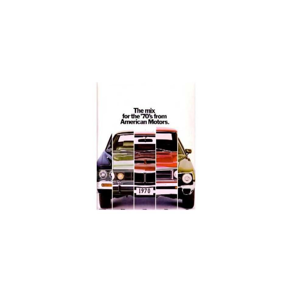 1970 AMC Sales Brochure Literature Book Piece Dealer Advertisement Options