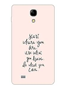 Start Where You Are - Motivational Typograhy - Hard Back Case Cover for Samsung S4 Mini - Superior Matte Finish - HD Printed Cases and Covers