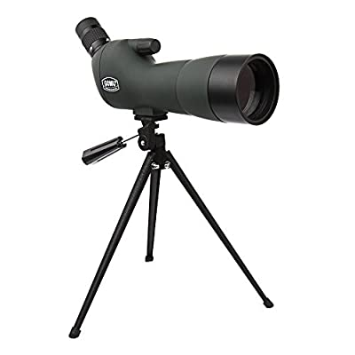 Emarth 20-60x60AE Waterproof Angled Spotting Scope with Tripod, 45-Degree Angled Eyepiece, Optics Zoom 39-19m/1000m Army Green from Emarthtech