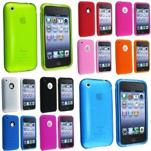 Cheap Fosmon Value Pack Case Combo for Apple iPhone 3G / 3GS (8 Textured Silicone Cases + 2 TPU Rubber Skin Cases) - 10 Case Combo