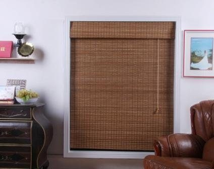 Indian Ginger Bamboo Roman Shade - Free Shipping, 46x74