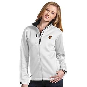 Baltimore Orioles Ladies Traverse Jacket (White) by Antigua