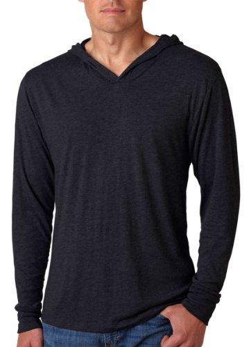 Next Level Apparel 6021 Unisex Tri-Blend Long-Sleeve Hoody - Vintage Black, Large