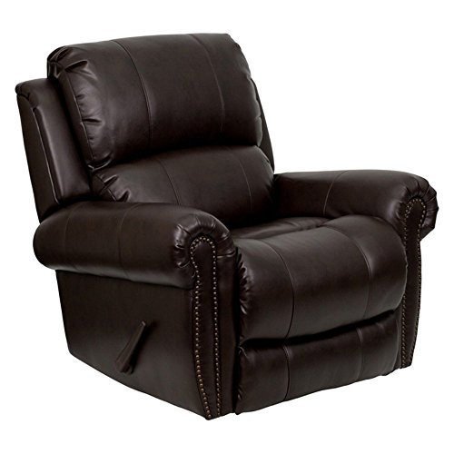 Plush Leather Rocker Recliner - 1