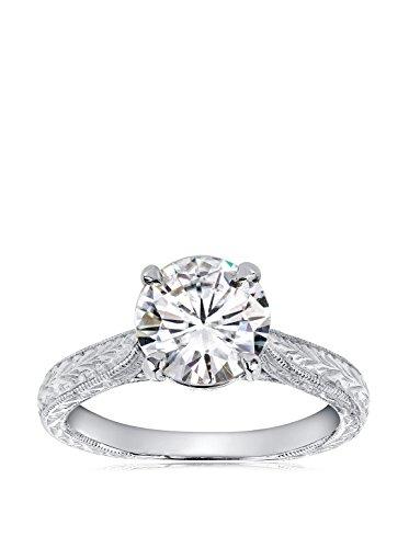 Kobelli 14K White Gold Moissanite & Diamond Antique Engagement Ring