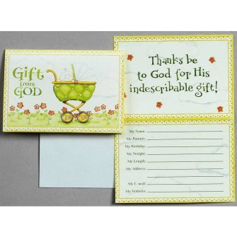 Gift From God Birth Announcements Cards-Religious