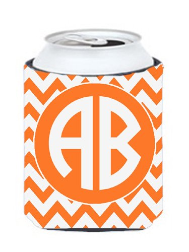 Chevron Orange And White For Tennessee Personalized Can Or Bottle Hugger