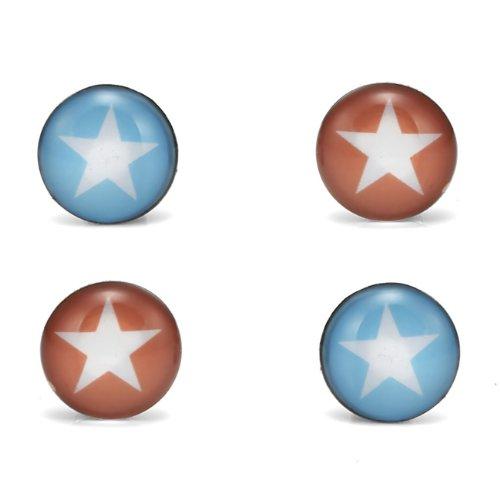 Unique Written in the Stars 4 Stud Earrings Set Stainless Steel