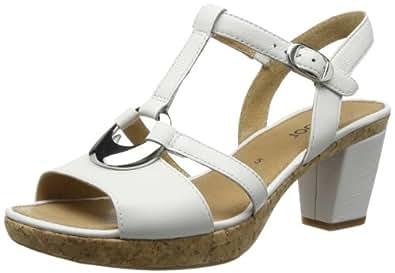 Gabor Shoes Gabor 85.730.21 Damen Sandalen, Weiß (weiss+Absatz), EU 44 (UK 9.5) (US 12)