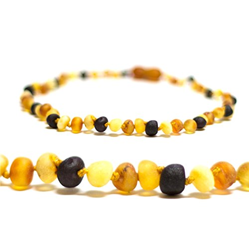 *Premium* Baltic Amber Teething Necklace for Baby (Raw Multi) - FTIR Tested - 1