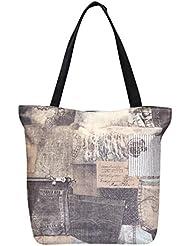 FabSeasons Black Jeans Digital Printed Cloth Bag
