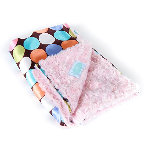 "Allyzabba Choco-dot Candy Small Baby Blanket 16""x14"" - 1"