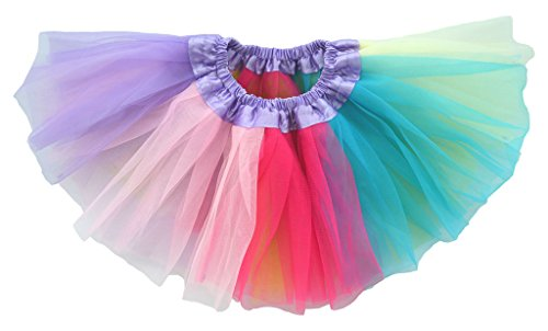 Dancina Baby Girls' Toddlers Tutu Rainbow Triple Layer Tulle 6 to 18 Months Plus