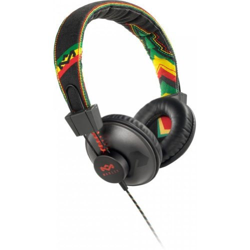House Of Marley Em-Jh011-Ra Positive Vibration Jammin On-Ear Headphone With 1-Button Mic - Rasta