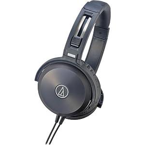 Audio Technica Série Solid Bass ATH-WS70BK casque stereo portable en aluminium avec technologie double chambre acoustique Noir