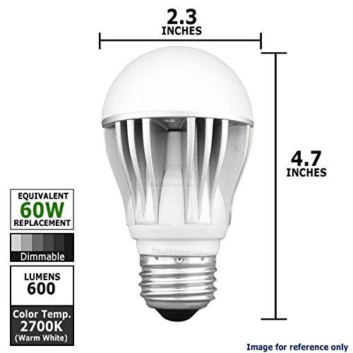 Kobi Warm 60 Equal - 11 Watt Dimmable Led A19 Shape Warm White Light Bulb
