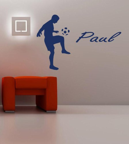 Housewares Vinyl Decal Boy Room Personalized Name Sport Football Player Home Wall Art Decor Removable Stylish Sticker Mural Unique Design For Any Room front-153119