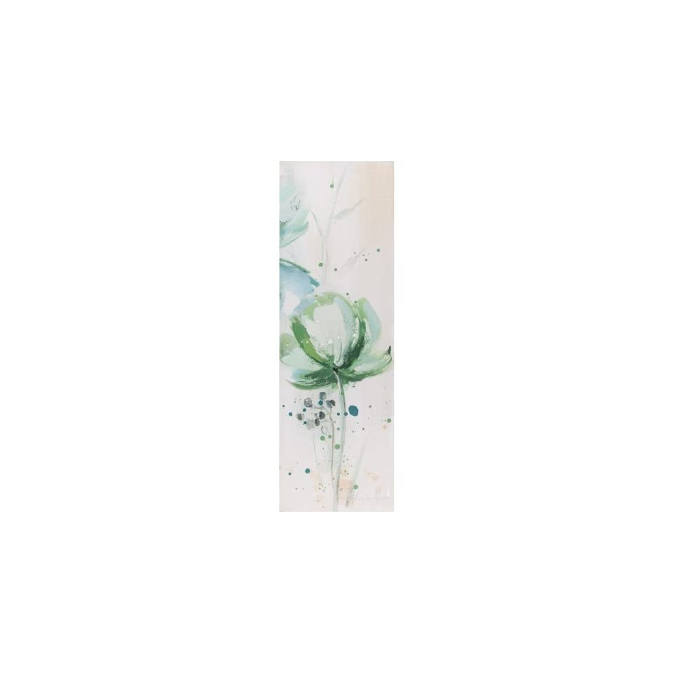 Yosemite Home Decor YG130369C Lime Flower III Abstract Hand Painted Artwork