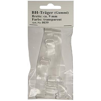 1 Paar BH - Träger (Gummi) 9 mm breit transparent im SB Pack, 0039 from Vertrieb durch: Yaba Handels GmbH