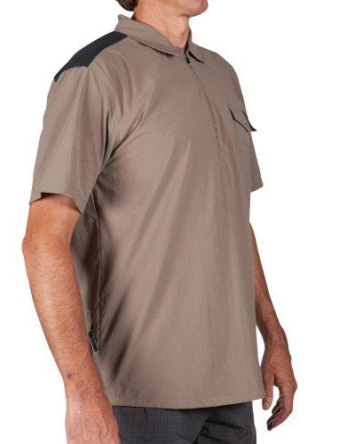 Zoic Men'S Nirvana Zip Commuter Cycling Shirt, Tan, Medium