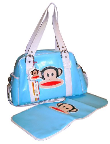 Paul Frank Bowler Style Diaper Bag, Blue