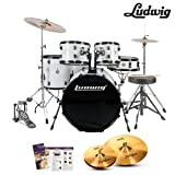 Ludwig Accent Fuse 5-Pc Drum Set (LC1708) White Finish - Picture