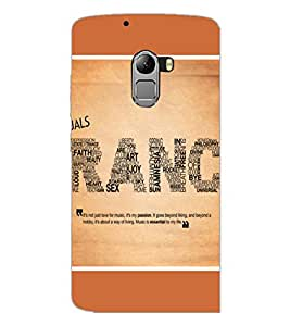 PrintDhaba Typography D-1392 Back Case Cover for LENOVO VIBE K4 NOTE (Multi-Coloured)