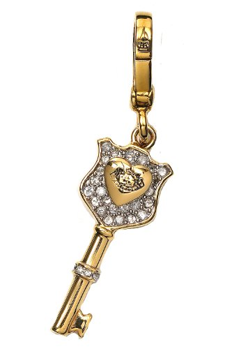 Juicy Couture Juicy Couture - Gold Key to Your Heart Design - Gold Plated Charm