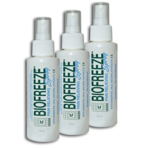 Biofreeze Pain Relieving Spray, 4-Ounce (Pack of 2)